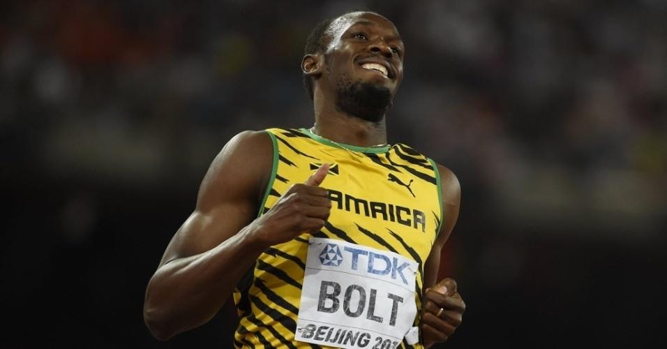 Usain Bolt venceu com facilidade a etapa semifinal dos 200m