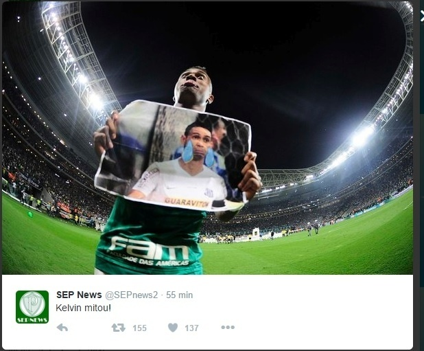 Kelvin tira sarro de Ricardo Oliveira depois do título da Copa do Brasil