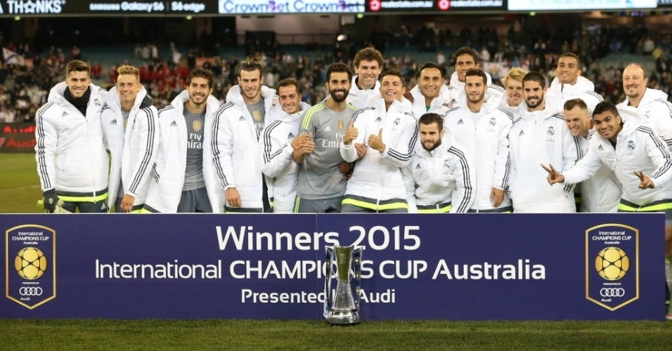 Real Madrid ganha troféu por vitória na Austrália contra o Manchester City