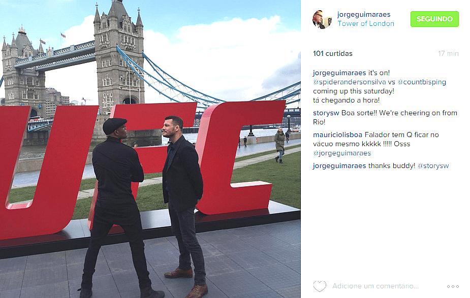 Anderson Silva e Michael Bisping ficam frente a frente antes do duelo de sábado (27/02), em Londres