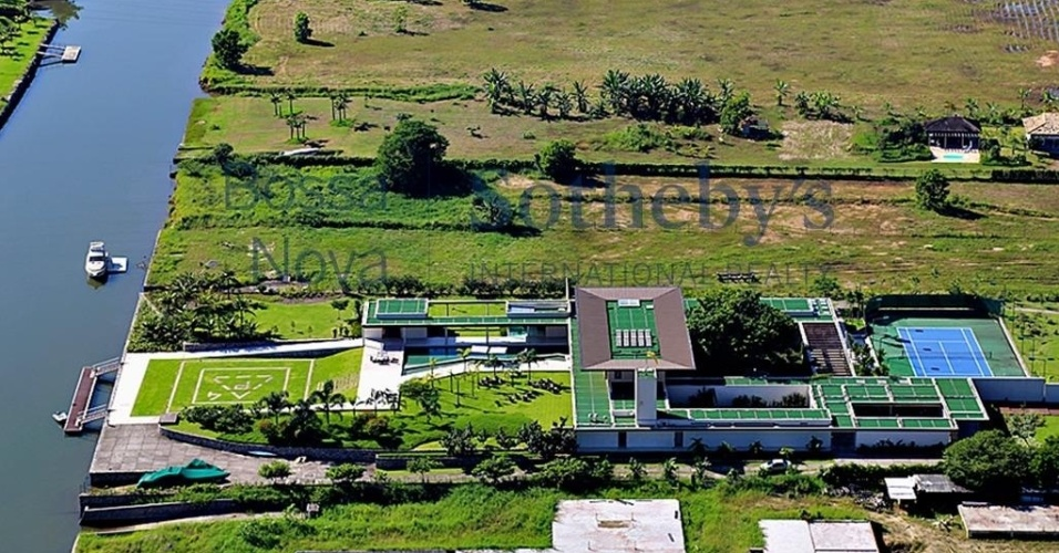 Vista aérea do imóvel comprado por Neymar, no Rio de Janeiro
