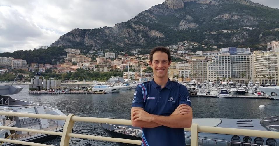 Bruno Senna participou de evento de barcos em Mônaco, na França
