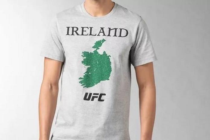 Camisa da Reebok produzida para os atletas irlandeses causou desconforto no país