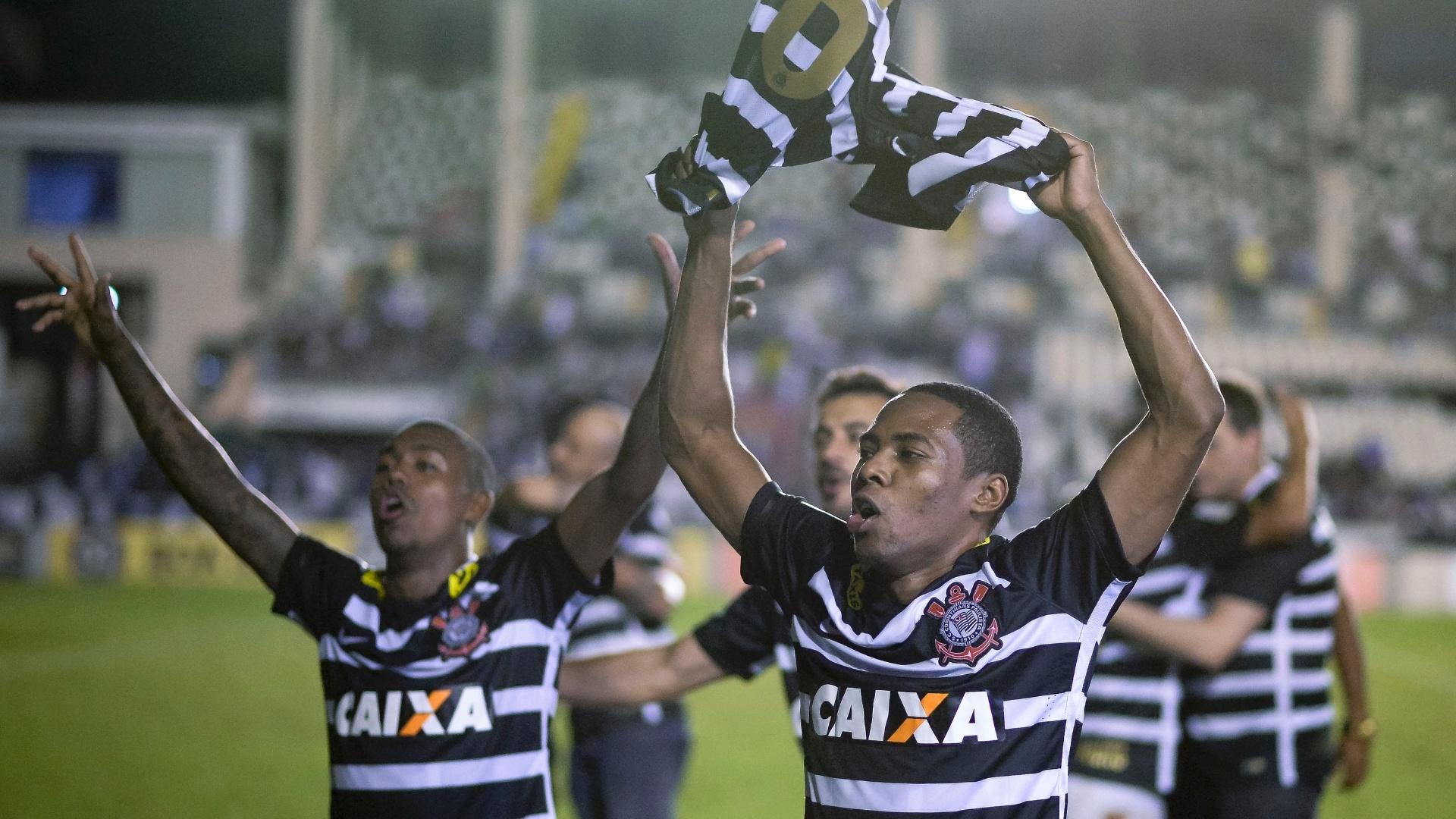 Jogadores do Corinthians comemoram título do Campeonato Brasileiro