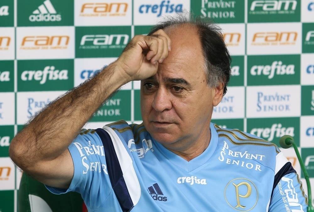 Marcelo Oliveira concede entrevista coletiva na Academia de Futebol do Palmeiras