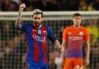 Após marcar três gols sobre o City, Messi é eleito o melhor da rodada