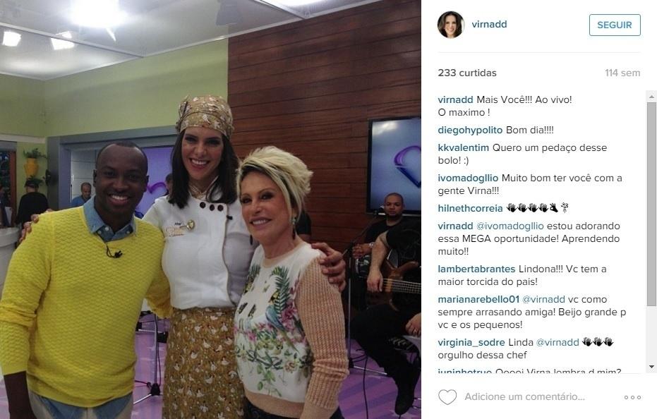Após o fim da carreira, Virna também virou celebridade e é frequentemente vista em meio a famosos