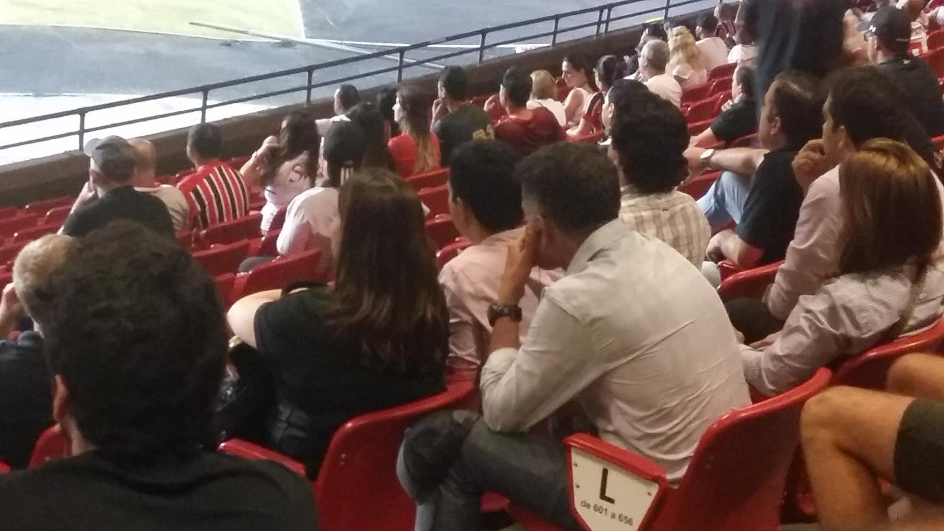 Juan Carlos Osorio acompanha partida do São Paulo contra o Atlético-MG no Morumbi
