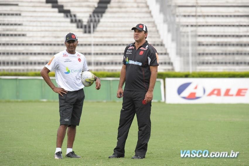 Cristóvão Borges e Ricardo Gomes durante trabalho no Vasco em 2011