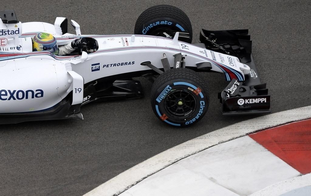 Felipe Massa registrou o melhor tempo na segunda sessão de treinos na Rússia