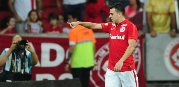 Andrigo comemora gol do Inter pelo Campeonato Gaúcho contra o Brasil de Pelotas