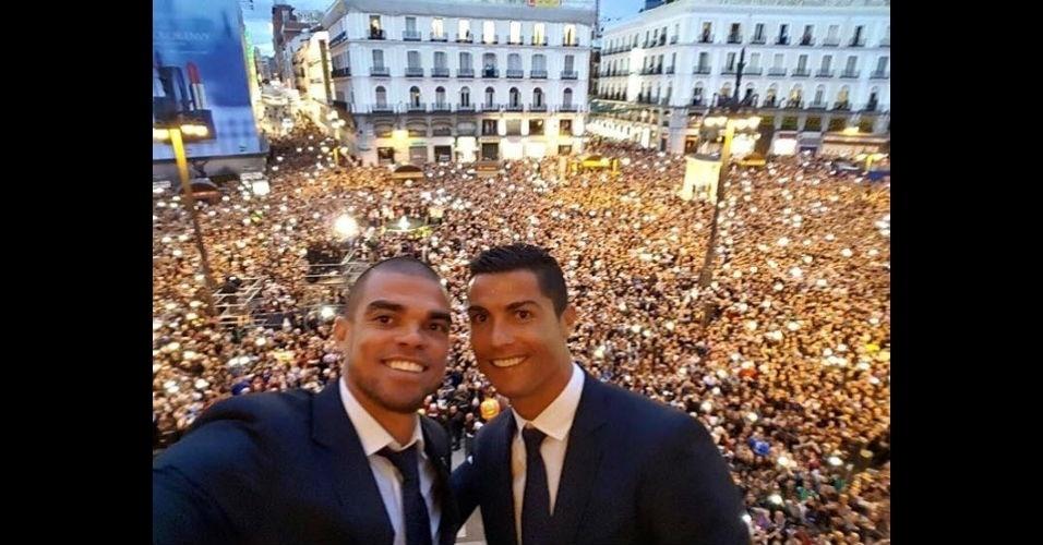 Cristiano Ronaldo e Pepe se despedem da temporada em festa da Liga dos Campeões