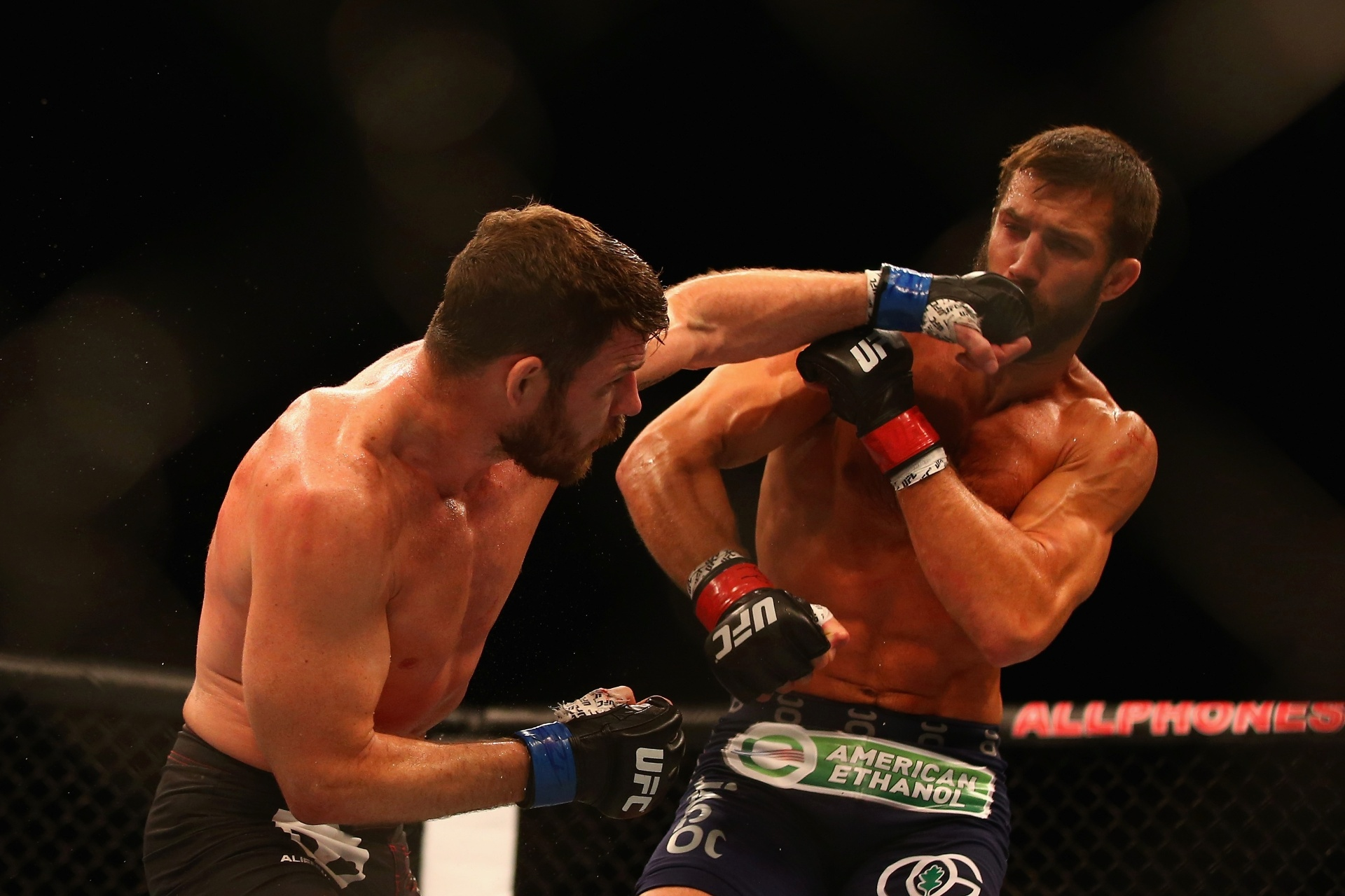 Michael Bisping e Luke Rockhold se enfrentaram em novembro de 2014 pelo UFC