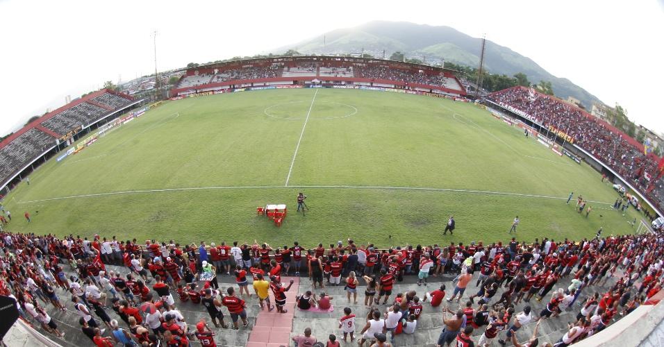 O estádio de Édson Passos é a casa improvisada do Flamengo no Campeonato Carioca