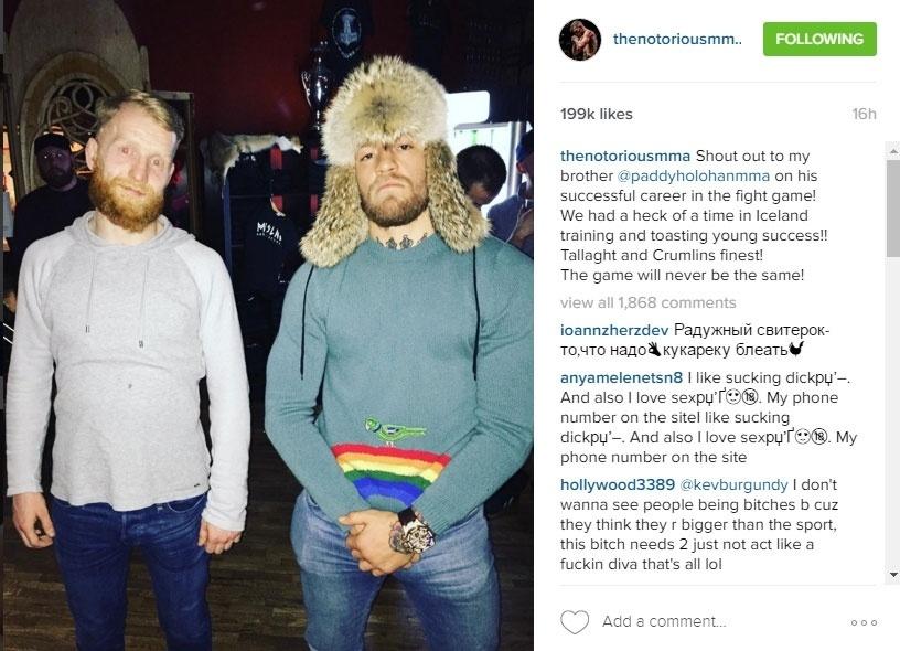 Conor McGregor se diverte com Paddy Holohan na Islândia
