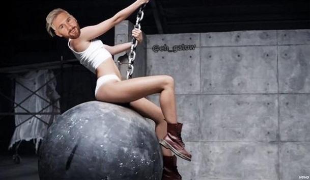 Messi é comparado a Miley Cyrus em meme