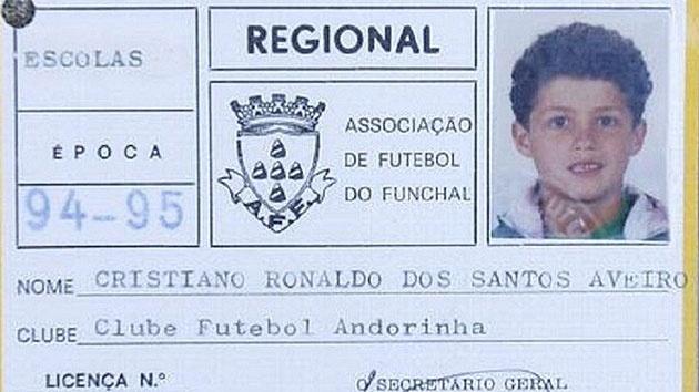 Cristiano Ronaldo jogou dos 8 aos 10 anos no Andorinha, clube da Ilha da Madeira