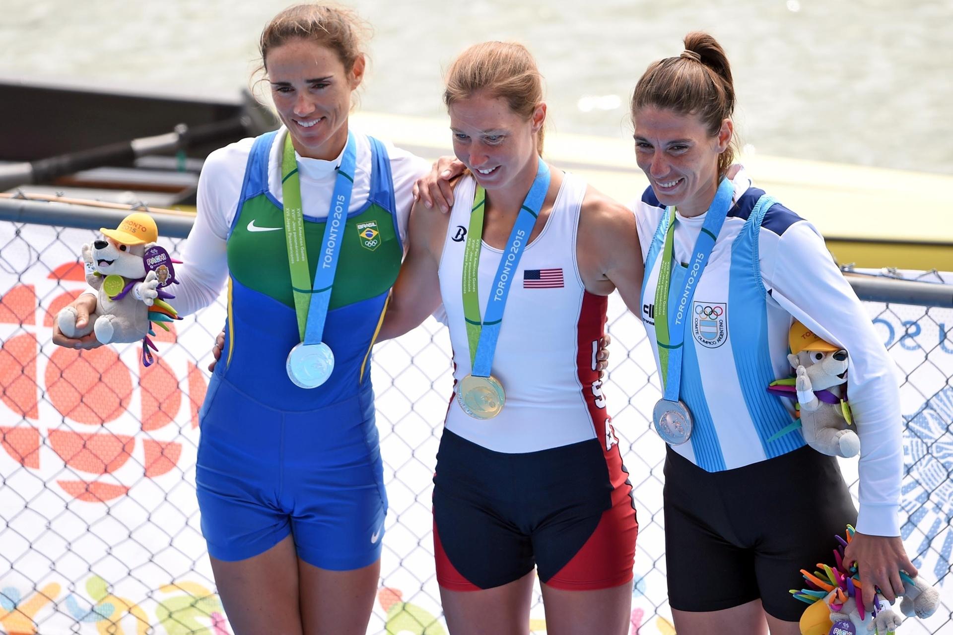 Com a medalha de prata, Fabiana Beltrame repetiu o feito conquistado nos Jogos Pan-Americanos de 2011