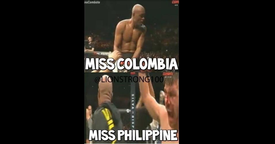 Derrota de Anderson Silva para Michael Bisping vira meme