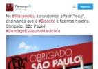 """Flamengo volta ao Maracanã, agradece """"Flacaembu"""" e brinca com paulistas - Reprodução/Twitter"""