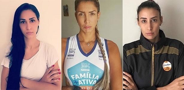 Jaque, Thaísa e Sheilla prostetaram pela web