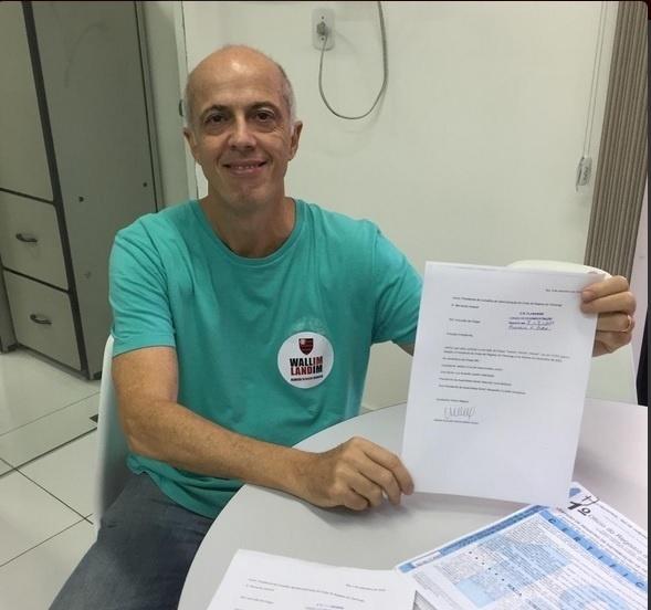 Wallim Vasconcellos inscreveu a Chapa Verde para a eleição do Flamengo