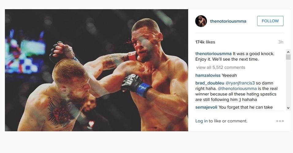 McGregor manda recado para Nate Diaz