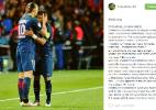 Thiago Silva dá adeus a amigo Ibra após 6 anos:
