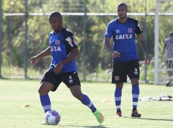 Jonatas Paulista, em treino no Vasco