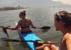 Canoísta namorada de ex-BBB critica a água do Rio em evento-teste olímpico - Reprodução/Facebook