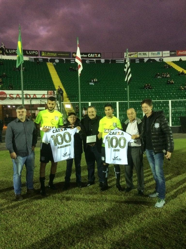 Marquinhos e Dudu são homenageados por 100 jogos com a camisa do Figueirense