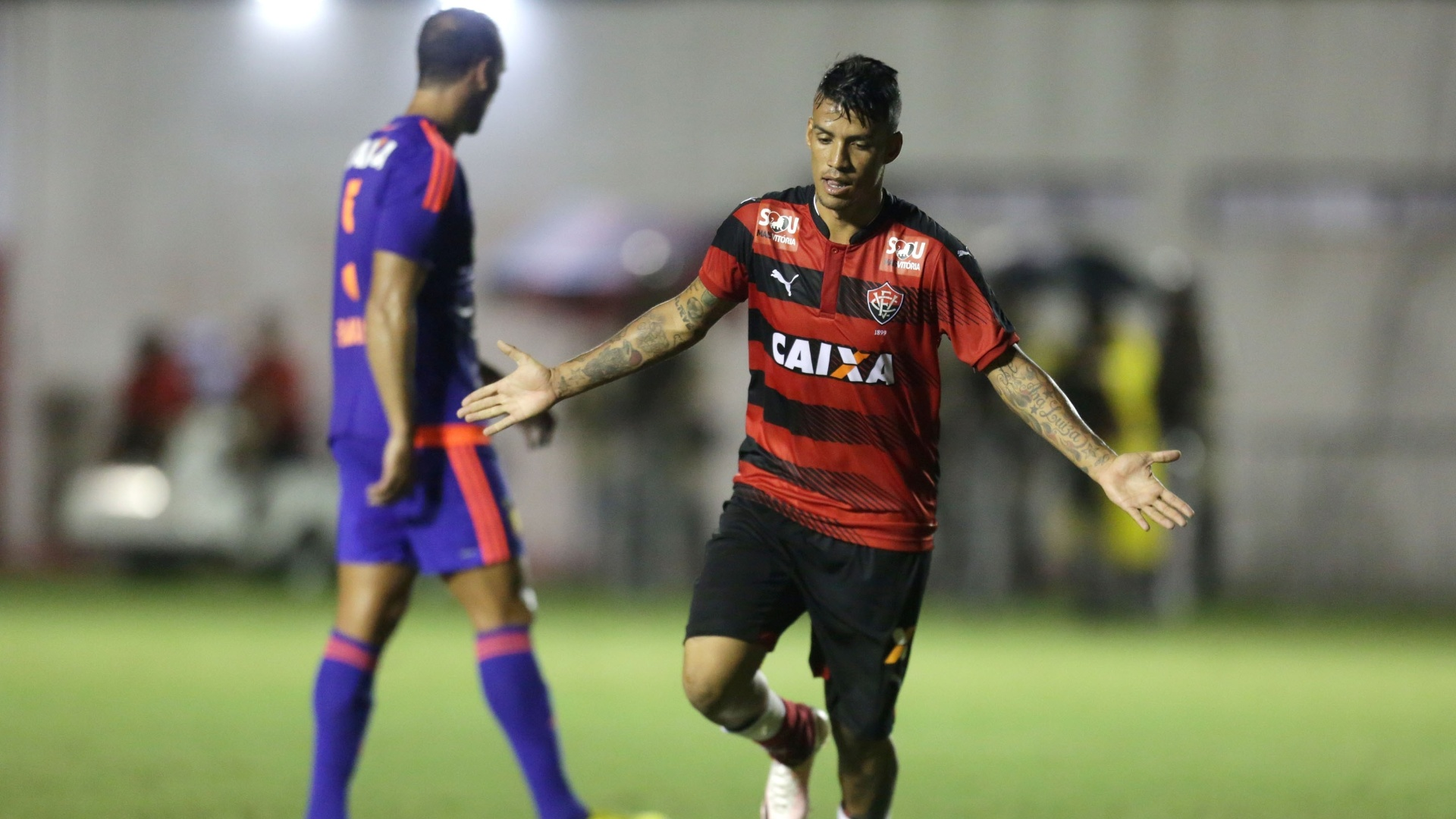 Vander marca para o Vitória contra o Sport