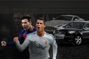 Conheça a coleção de carros de C.Ronaldo, Messi e cia