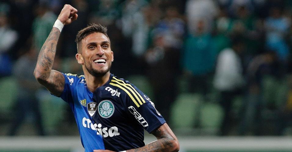 Rafael Marques festeja gol do Palmeiras contra Botafogo-PB