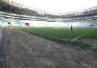 Gramado do Allianz tem partes trocadas após reclamações de Cuca e jogadores