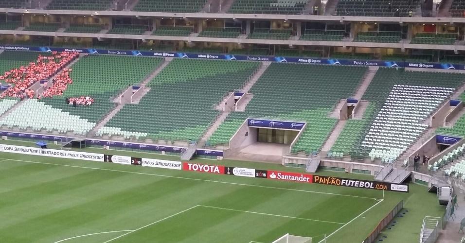 Allianz Parque apresentou mudanças em relação à publicidade