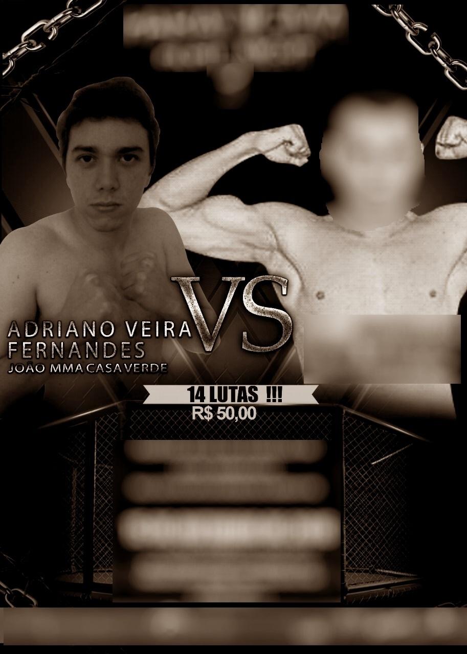 Cartaz da luta de MMA em que jornalista foi aceito
