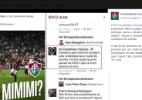 A briga continua: Flu responde provocação do Corinthians em rede social