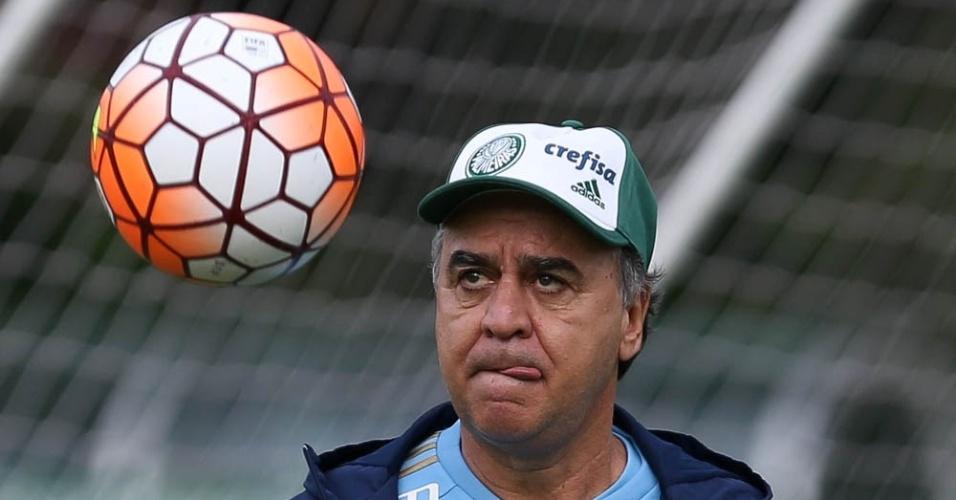 Marcelo Oliveira durante treinamento do Palmeiras na Academia de Futebol,