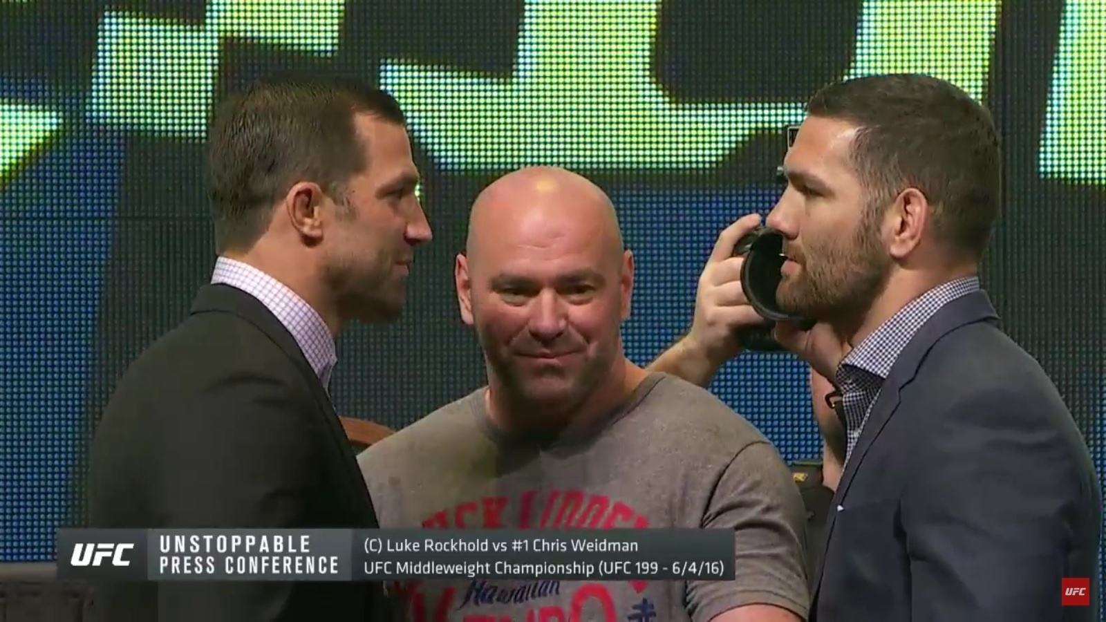 Luke Rockhold e Chris Weidman se encaram em evento do UFC