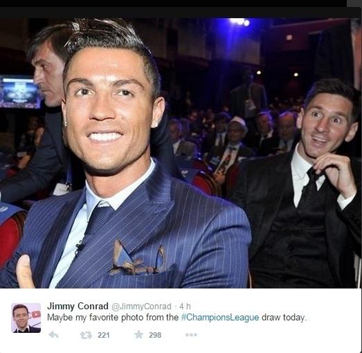 Messi invade foto de Cristiano Ronaldo
