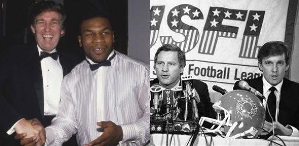 Trump mantém longa relação de amizade com Tyson e se envolveu com liga rival da NFL