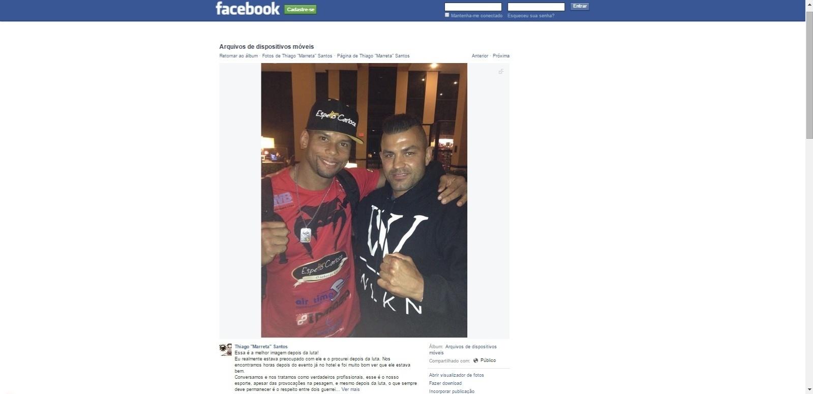 Thiago Marreta reencontrou Steve Bossé depois do UFC Flórida