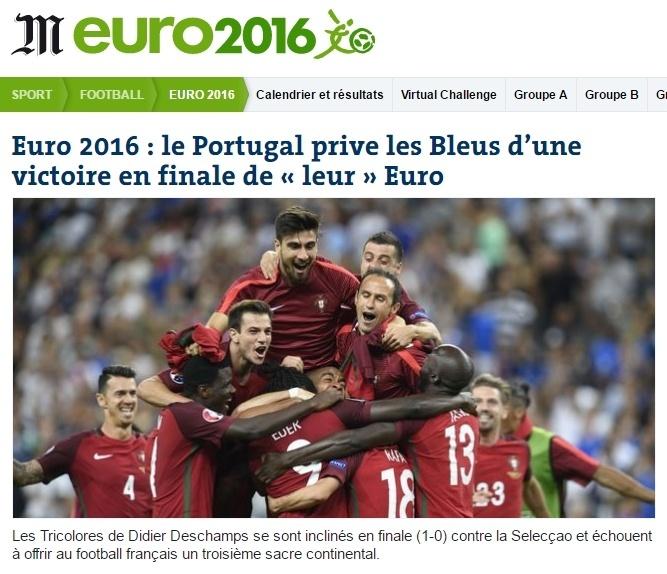 Jornal Le Monde repercute derrota francesa na Euro 2016