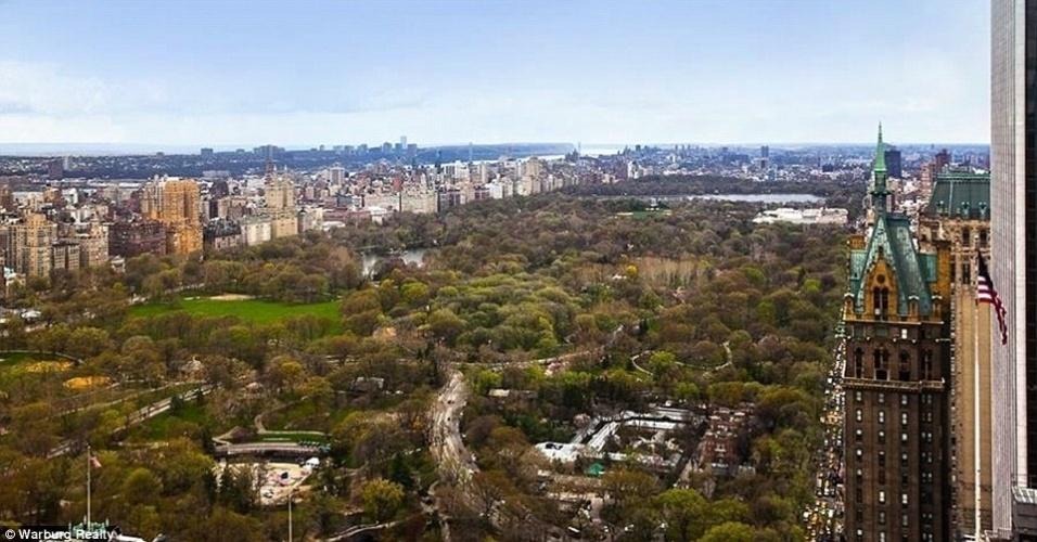 A bela vista do apartamento de Cristiano Ronaldo em Nova York