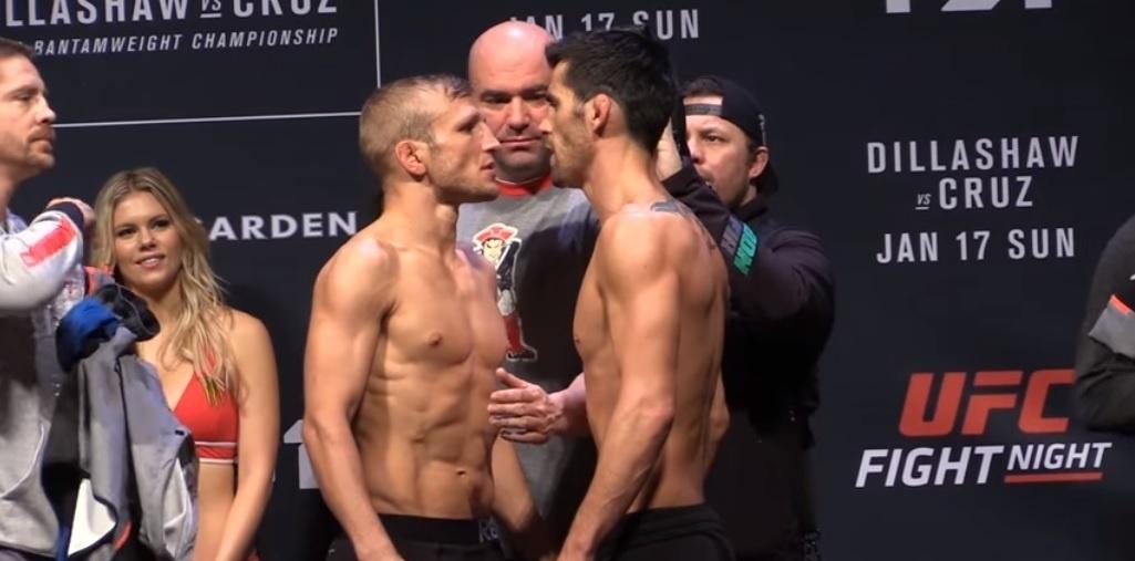 TJ Dillashaw e Dominick Cruz se encaram antes de disputa de cinturão