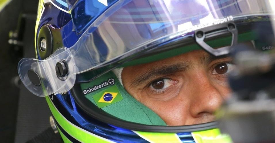 Felipe Massa homenageou em seu capacete o francês Jules Bianchi, que faleceu em decorrência do gravíssimo acidente sofrido no ano passado, no Japão
