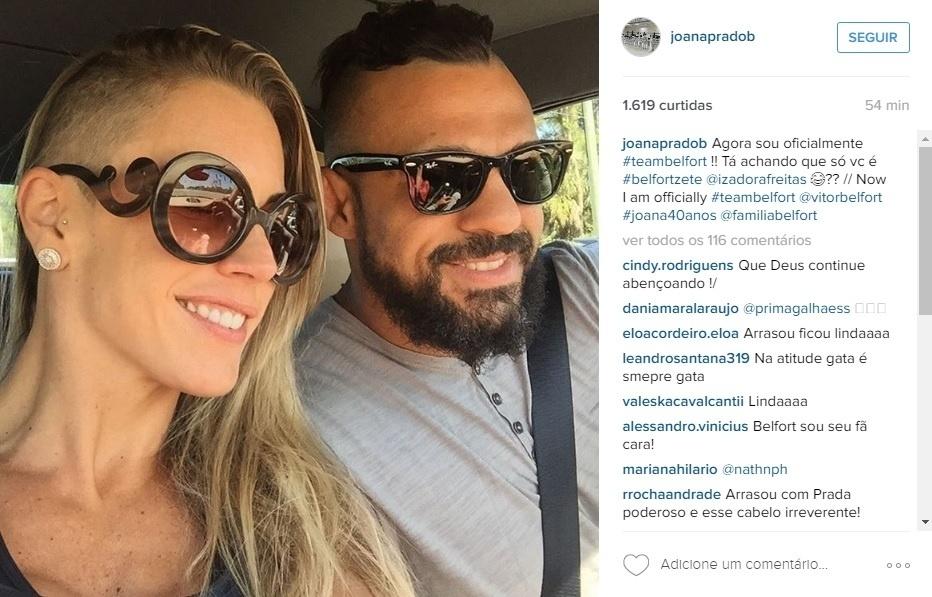 Joana Prado raspa a cabeça para homenagear Vitor Belfort
