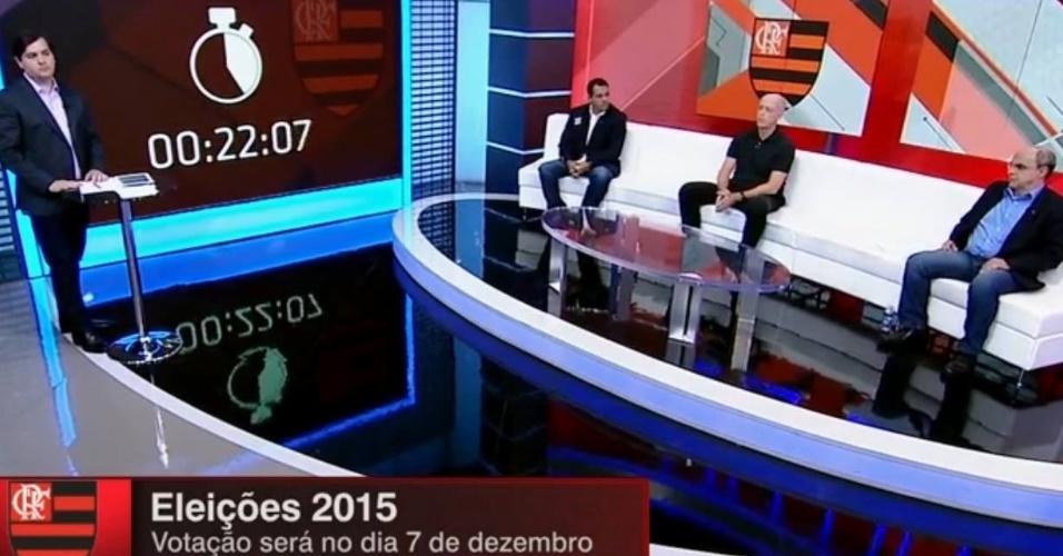 Candidatos à presidência do Flamengo participaram de debate na ESPN Brasil