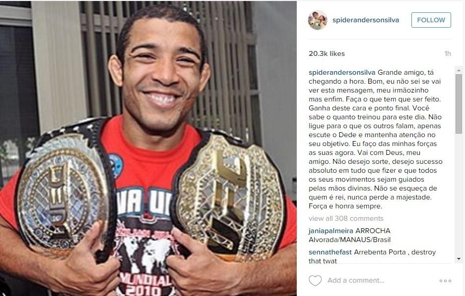 Anderson manda recado para Aldo: